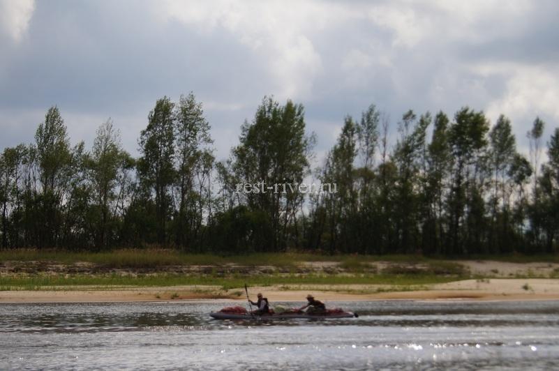 байдарка водных туристов