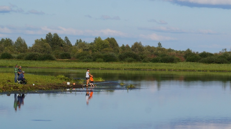 хороший отдых с детьми рыбалка на озере