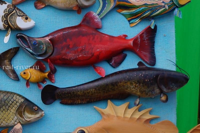 деревянная рыба - фантазия сувенир рыба