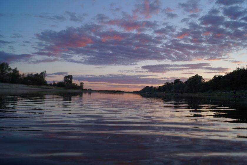 красивое фото реки вечером