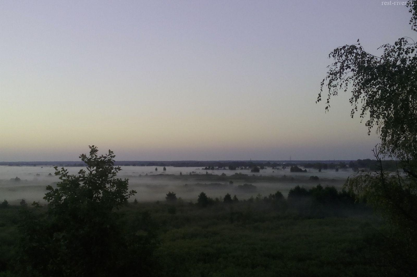 фото туман над рекой