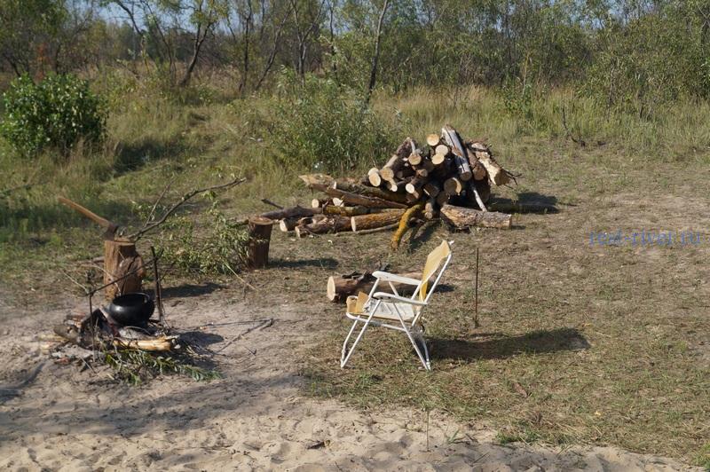 фото кострище в палаточном лагере