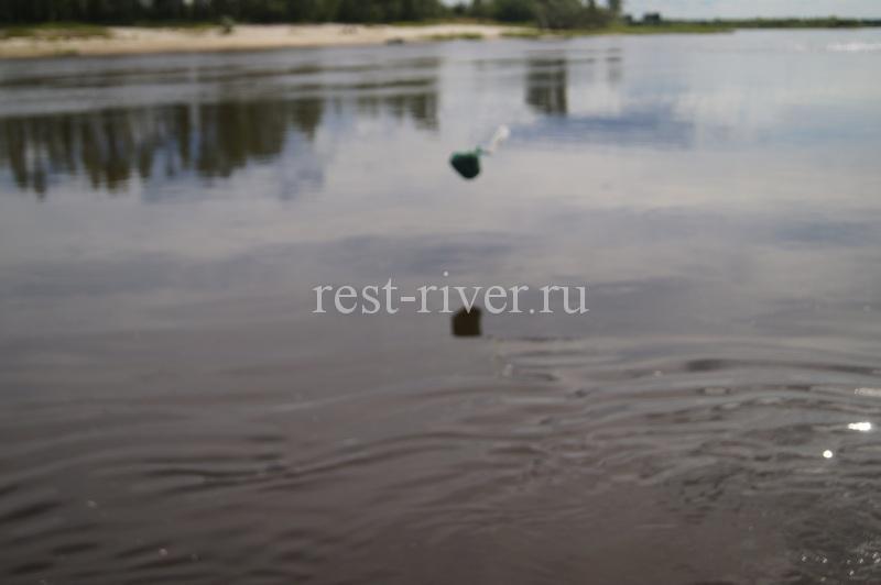 заброс кормушки - ловля рыбы подкармушку в проводку