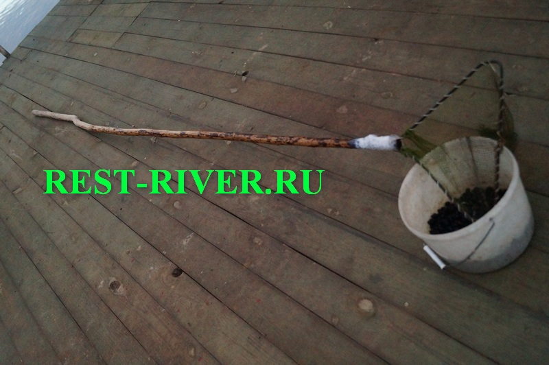 садок для сбора ракушки для рыбалки с длинной ручкой
