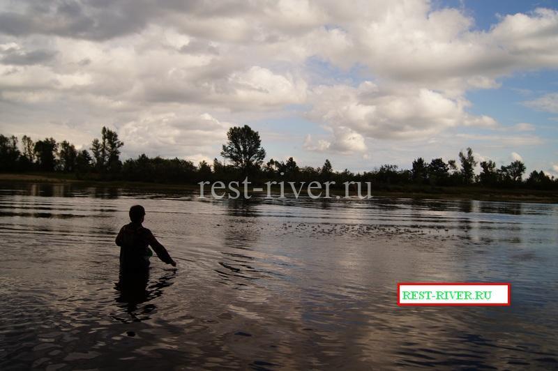 заброс прикормки при рыбалке в проводку на течении