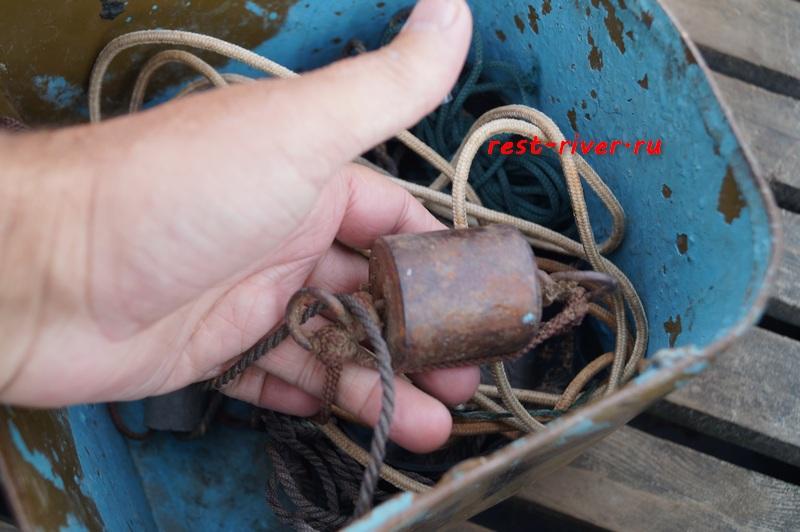 груз на доку для ловли крупного сома, снасть для ловли сома