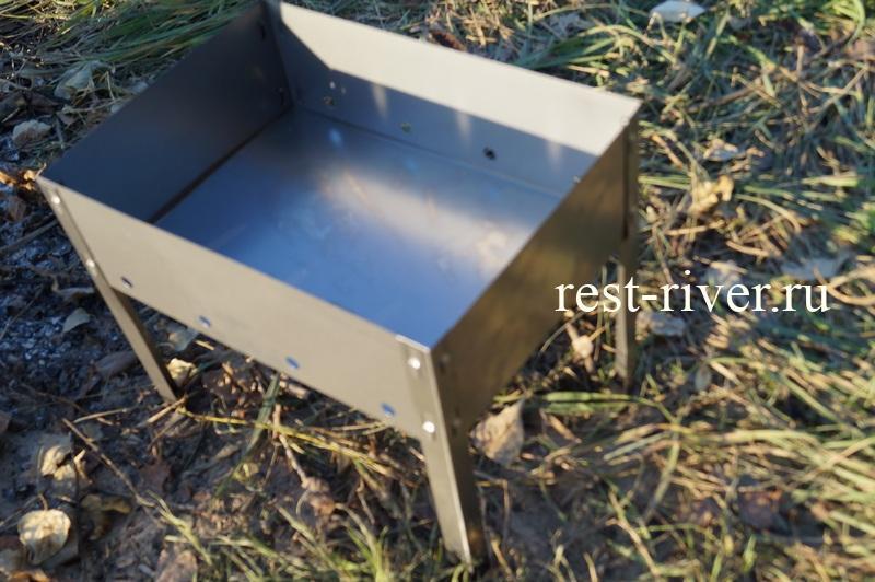 фото собранный одноразовый мангал для пикника