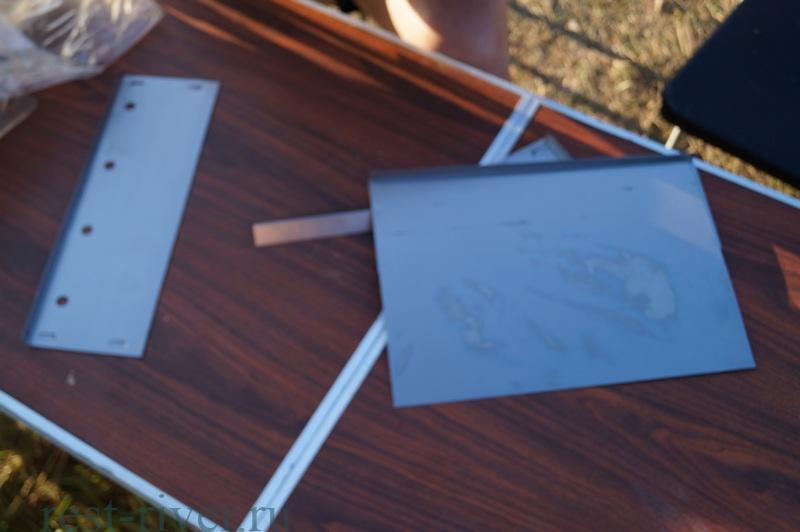 фот элементы одноразового переносного мангала из металла для пикника