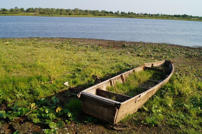фото брошенная деревянная лодка