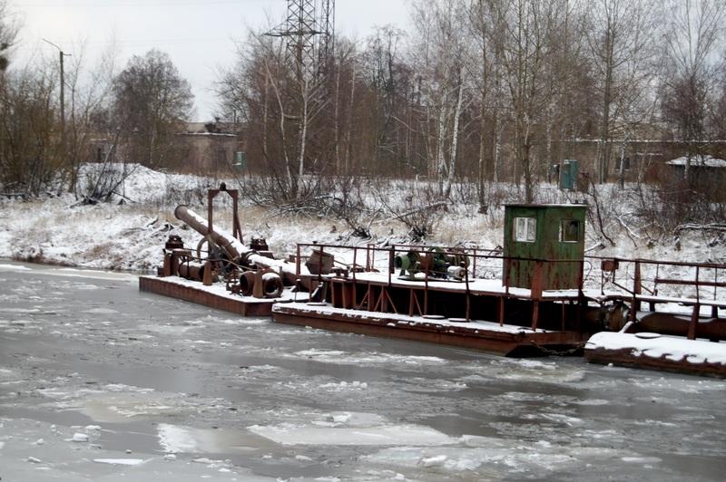Концевой понтон плавучего пульпопровода