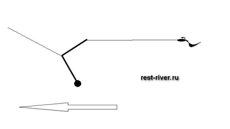 схема ловли на отводной поводок
