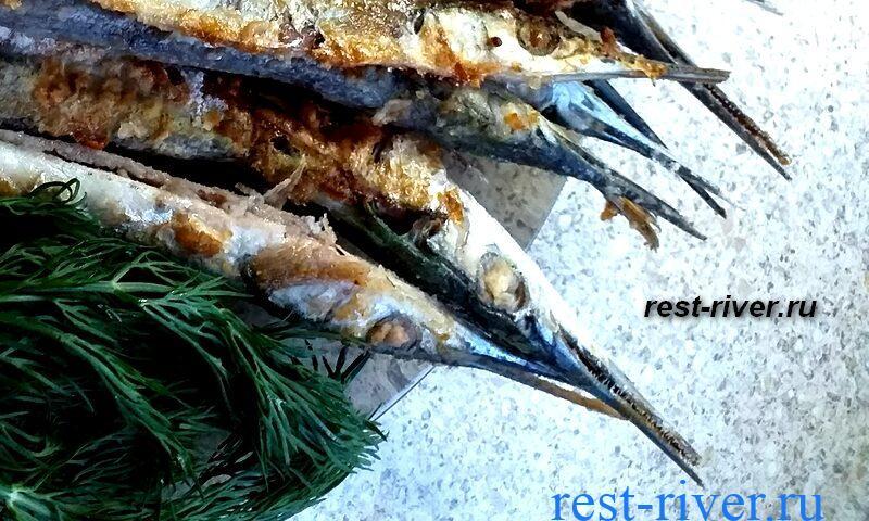 рыба сарган приготовленная в духовке