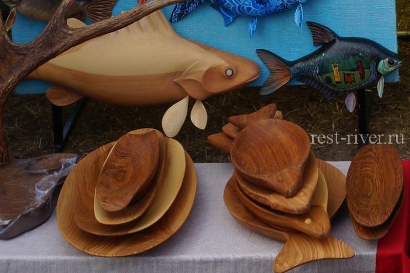 деревянная посуда в виде рыб - сувенир из дерева своими руками на продажу