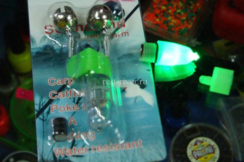 совмещенный колокольчик и фонарик - сигнализатор для рыбалки