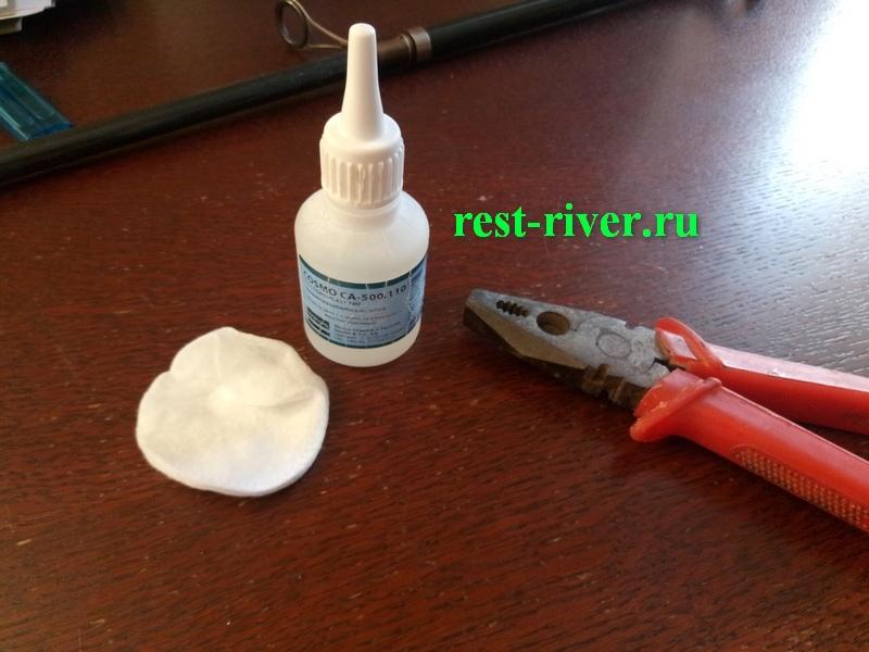 ремонт отслоения на вершинке спиннинга - инструменты