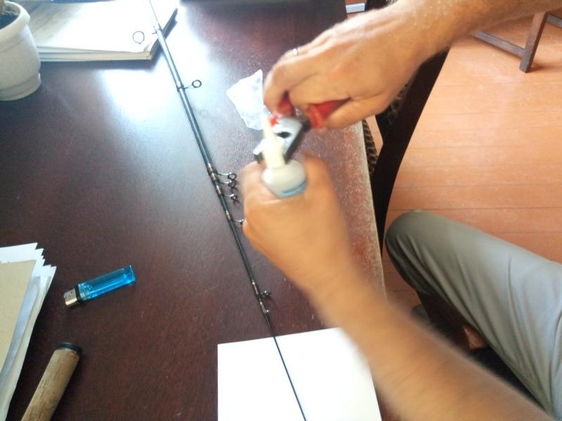 ремонт отслоения на вершинке спиннинга - открытие клея