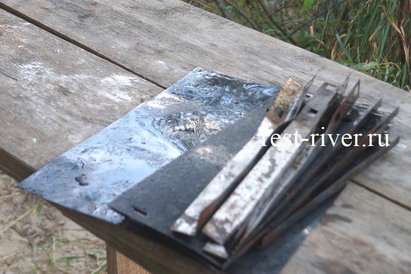 фото использованный одноразовый мангал
