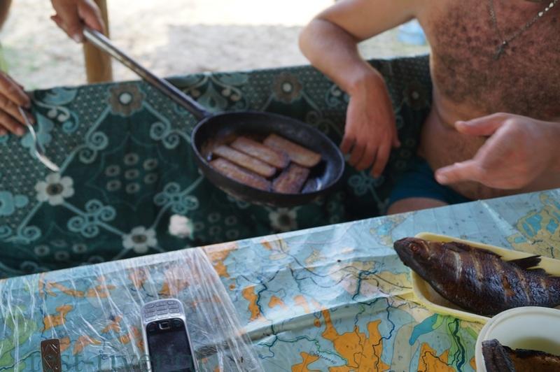 закуска на природе гренки