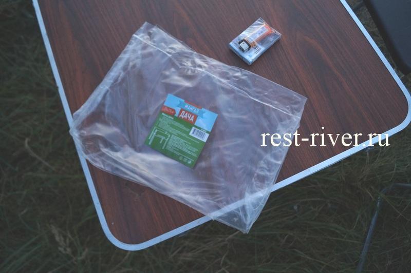 упаковка одноразового мангала для пикника