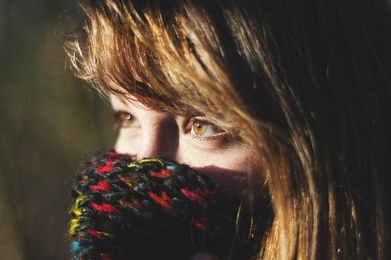 женский зимний шарф