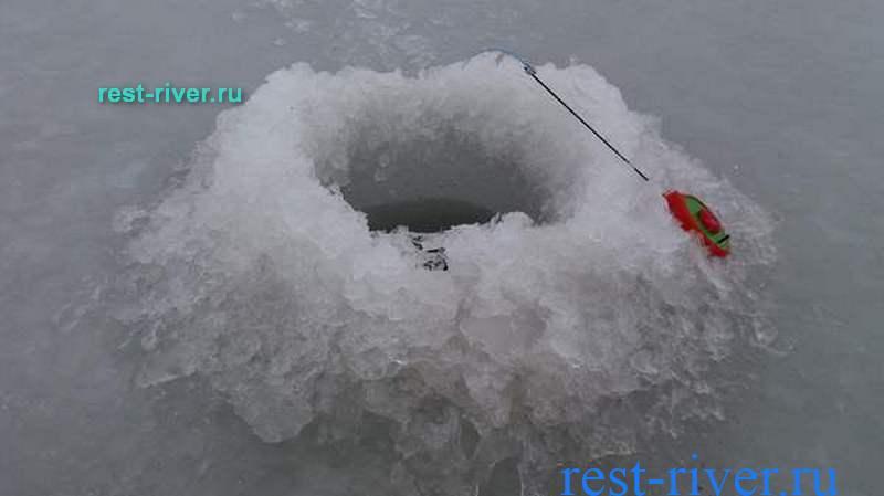 фото лунки по последнему льду