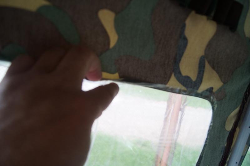 как сделать окно в палатке