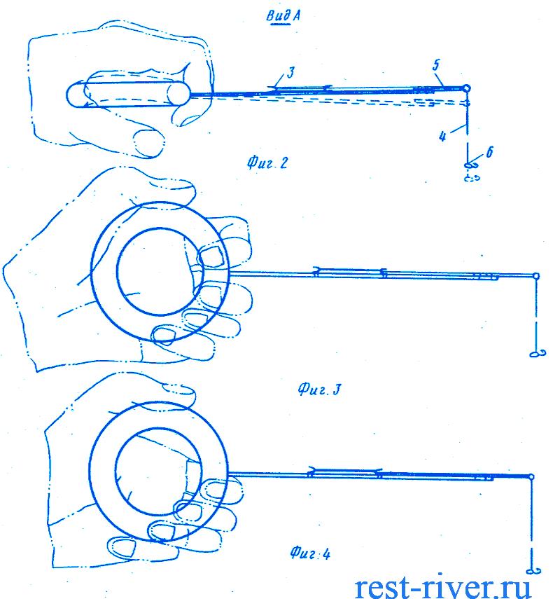 удочка балалайка для зимней рыбалки резиновая